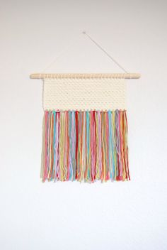 Crochet Woven Wall Hanging Textile Wall Hanging by BloomingAlice