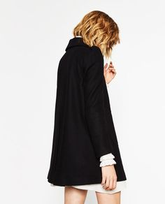 Image 6 of COAT WITH EMBROIDERED YOKE from Zara