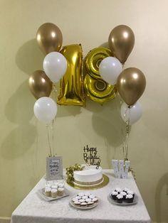 Birthday Goals, 18th Birthday Party, Birthday Celebration, Girl Birthday, Simple Birthday Decorations, Birthday Girl Pictures, Backyard Birthday, Balloon Decorations Party, Themes For Parties