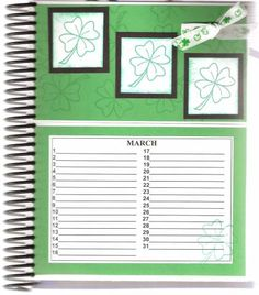March Page of Card Organizer by DRStamper - Cards and Paper Crafts at Splitcoaststampers Card Organizer, Organizers, March, Paper Crafts, Organization, Birthday, Frame, Getting Organized, Picture Frame