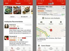 App Yelp no iPhone