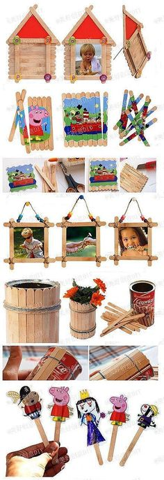 Crafty Ideas With Popsicle Sticks