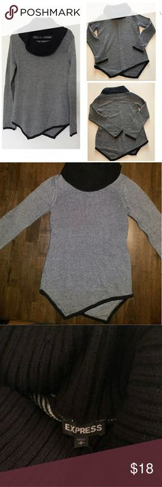 Final drop EXPRESS Cowl neck sweater Good condition, super cute for the chilly days to come   I apologize that the sweater was mistakenly listed as a medium.   It is an XS Express Sweaters Cowl & Turtlenecks