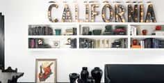 california letras decorativas