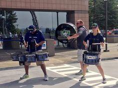 Blue Thunder Drum line at Renton, WA City Hall