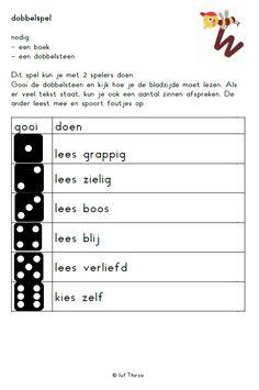 jufthirza.nl Dobbelspel toneellezen veilig leren lezen kim-versie