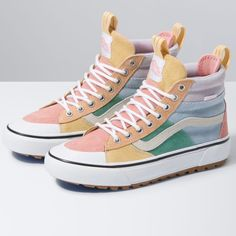 Tennis Shoes Outfit, High Top Vans Outfit, High Top Sneakers, Pride Shoes, Colorful Sneakers, Popular Sneakers, Hype Shoes, Fresh Shoes, Custom Shoes