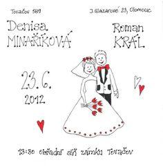 Svatební oznámení vytvořené na přání