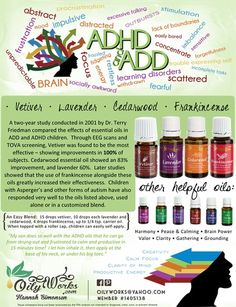 ADHD & ADD... Young Living does the job! My personal testimony and recipe for the blend we use at our house. Find our awesome team at www.oilyworks.com, and show your oily love by liking us on Facebook as Oily Works!