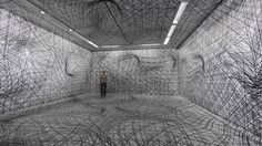 Peter Kogler Galerie im Taxispalais, Innsbruck, 2014 Foto: Atelier Kogler Pair with some more installations Innsbruck, Peter Kogler, Perspective Room, Enter The Matrix, Psychedelic Effects, Psychedelic Pattern, Ceiling Installation, Art Impressions, Museum Of Contemporary Art
