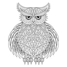 owl be off coloring free adult coloring page