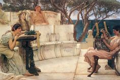 Sappho And Alcaeus, by Sir Lawrence Alma-Tadema