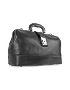 Black Genuine Italian Leather Doctor Bag -  Black Genuine Italian Leather Doctor Bag Chiarugi This elegant structure of a vintage doctors bag is ideal for sophisticated business style, with a spacious inside compartment, keylock closure, and detachable shoulder strap. Made in Italy. Price $632.00 Click HERE for more Information