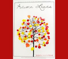 { Autumn Leaves / Fingerprint Tree }