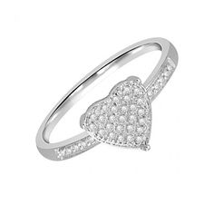 Heart Shaped Diamond Anniversary Ring - Our Price:  $99.99 - 50% Off