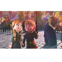 This is adorable:) Anna and Kristoff as kids