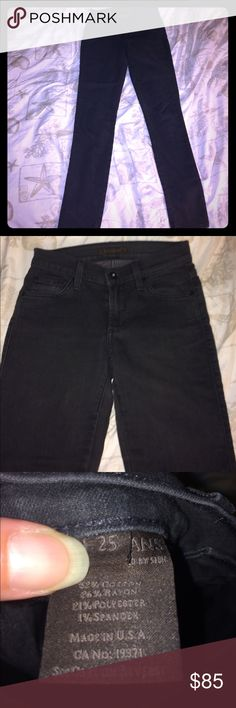 """Jeggings - James jeans Excellent condition! Factory fade. Skinny leg cut, approx 30"""" inseam, 24"""" waist, 8"""" rise. Dark gray color James Jeans Pants"""
