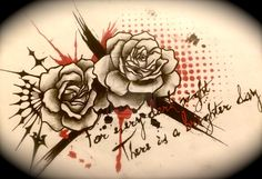 """Replace roses with stargazer lillies and red with blue and purple. Words: """"this too shall pass"""""""