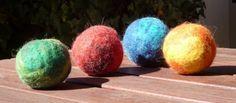 Bälle Filzen |Anleitung für gefilzte Bälle und Kugeln - Stricklinge