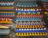 5 - FIVE - Chaquira Ngobe and Kuna Indian Hand Beaded Bracelets