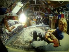 Daniel and Ben from Silverchair. This is where it all started for Silverchair. This is the attic above Daniel's room where they practiced and rehearsed when they were before getting signed at Room Ideas Bedroom, Bedroom Inspo, Bedroom Decor, Dream Rooms, Dream Bedroom, Grunge Bedroom, Punk Bedroom, Chambre Indie, Aesthetic Room Decor