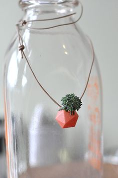 Miniature Icosahedron in Tangerine A Wearable by wearableplanter, $20.00