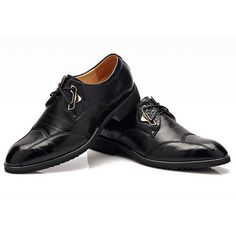 Vintage British Style Pointed Toe Business Casual Lace Up Dress Shoes ($36) ❤ liked on Polyvore featuring men's fashion, men's shoes, men's dress shoes, mens leather slip on shoes, mens dress loafers shoes, men's vintage shoes, mens woven leather slip-on shoes and mens leather lace up shoes
