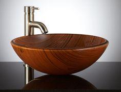 Wood Vessel Sink Canada