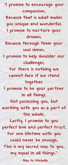 Wedding Quotes : Picture Description Wedding Quotes : Wedding Vows 25 Heart-melting Real Couple Wedding Vow Ideas to Make You Cry! Wedding Vows That Make You Cry, Wedding Vows To Husband, Wedding Couples, Romantic Couples, Vows Quotes, Cry Quotes, Truth Quotes, Famous Quotes, Qoutes