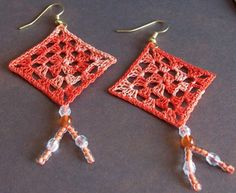 My Orange Dream granny square earrings