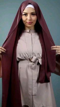 Hijab Fashion Summer, Modern Hijab Fashion, Hijab Fashion Inspiration, Islamic Fashion, Muslim Fashion, Mode Inspiration, Simple Hijab Tutorial, Hijab Style Tutorial, How To Wear Hijab