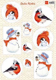 Vk9550 Knipvel Artic winter - Vintage - Marianne Design Knipvellen - Hobbynu.nl
