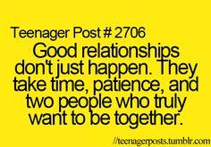 It doesn't just happen.
