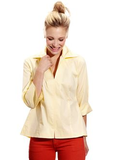 """Swing Shirt"" in Yellow Signature Poplin.  Finley Couleur Spring 2012 available at your favorite Finley retailer 2/28"