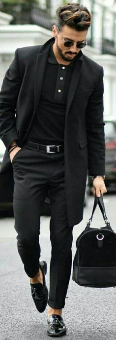 All black outfit ideas for men #blackonblack #allblack #mensfashion