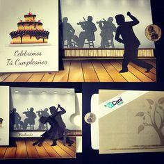 #Tarjeta de #Cumpleaños #Deslizante por #ViCani_Design