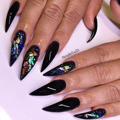 Elegant colorful black beauties by @monanailedit .  .  #classynails #nailsthatslay #blacknails #nailartaddict #stilettonails #nailsoftheday #nails #nailart #cutenails #notd #nailswag #shinynails #nailporn #longnails #lovenails #gorgeousnails #nailtech #naildedit #chicnails #nailgram #colorfulnails #rainbow #nailstagram #nailartist #nailaddict #instanails #nails2inspire #PASSIONATENAILTECHS #PASSION4NAILART #P4NA