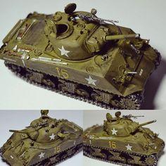 Tank Sherman M4A3 1/72. Modeler Antonio Carlos (@acla_modelismo) #scalemodel #plastimodelismo #miniatura #miniature #miniatur #plasticmodel #plastickits #sherman #usinadoskits #udk #scalemodelkit #scalemodeltank #hobby #maqueta #maquette