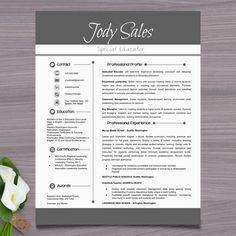 Resume Template + Cover Letter and References - PowerPoint