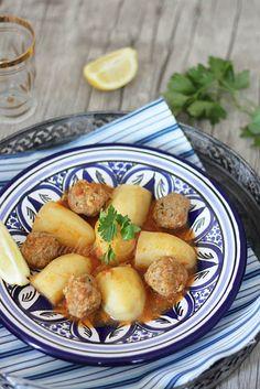 Pommes de terre et boulettes au cumin