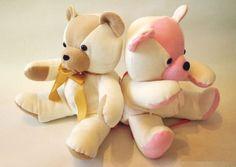 Faça este urso de pelúcia com as cores que você quiser, mas sempre com ótimos resultados (Foto: howjoyful.com)