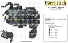 Heartless Shadow Kingdom Hearts Free Cross Stitch by EverStitch