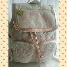 SALE NWT Betsey Johnson Blush Backpack Sweet backpark for summer vacations, beach♥ straps and corners cute goldish pink ♥ Betsey Johnson Bags