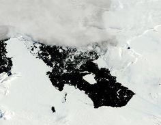 Imagen de satélite del hielo marino antártico y glaciar