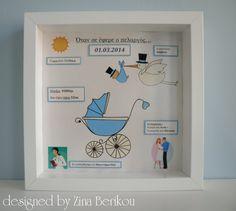 Designed by Zina Berikou: Χειροποίητα Καδράκια για το Παιδικό Δωμάτιο !