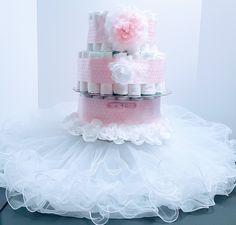 Ballerina TuTu Baby Girl Diaper Cake