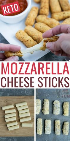 These low carb mozzarella sticks are best fried, but they can be made in an air fryer too. The kids love these keto mozzarella sticks too! Keto Dinner Recipes for Rapid Weight Loss Low Carb Appetizers, Low Carb Desserts, Low Carb Recipes, Diet Recipes, Recipes Dinner, Healthy Recipes, Low Carb Meals, Dessert Recipes, Ham Recipes
