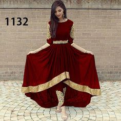 Georgette Embroidered Work Dress - See N Buy Pakistani Fancy Dresses, Pakistani Wedding Outfits, Bridal Outfits, Stylish Dresses For Girls, Dresses For Work, Dress Work, Designer Anarkali Dresses, Designer Dresses, Afghani Clothes