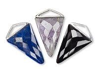 Triangular Gemstone and Sterling Silver Drops #beading #beadingtutorial #tutorial #jewelrymaking #jewelry #handmadejewelry #handmade #diy #diyjewelry #diyjewelrymaking