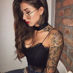 You sexy girl with sleeve tattoos would you